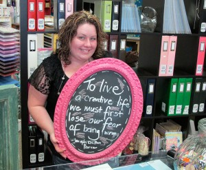 Jenny Gannon, owner of She's Crafty in Redding.