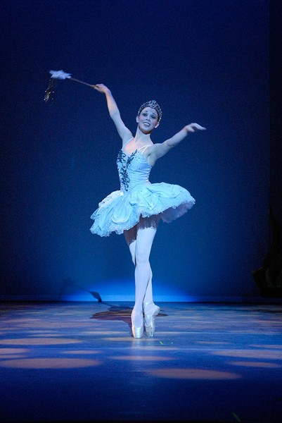 The Fairy Godmother dances in Cinderella. Photo: Chico Community Ballet.